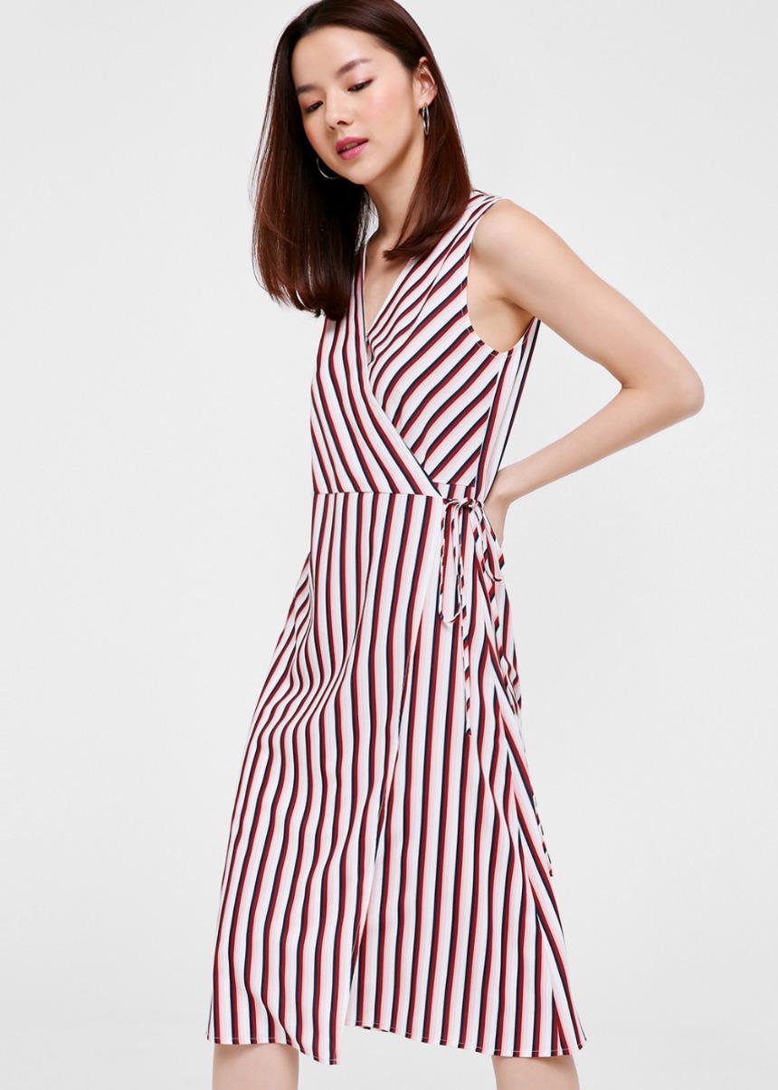 Laila Printed Midi Wrap Dress