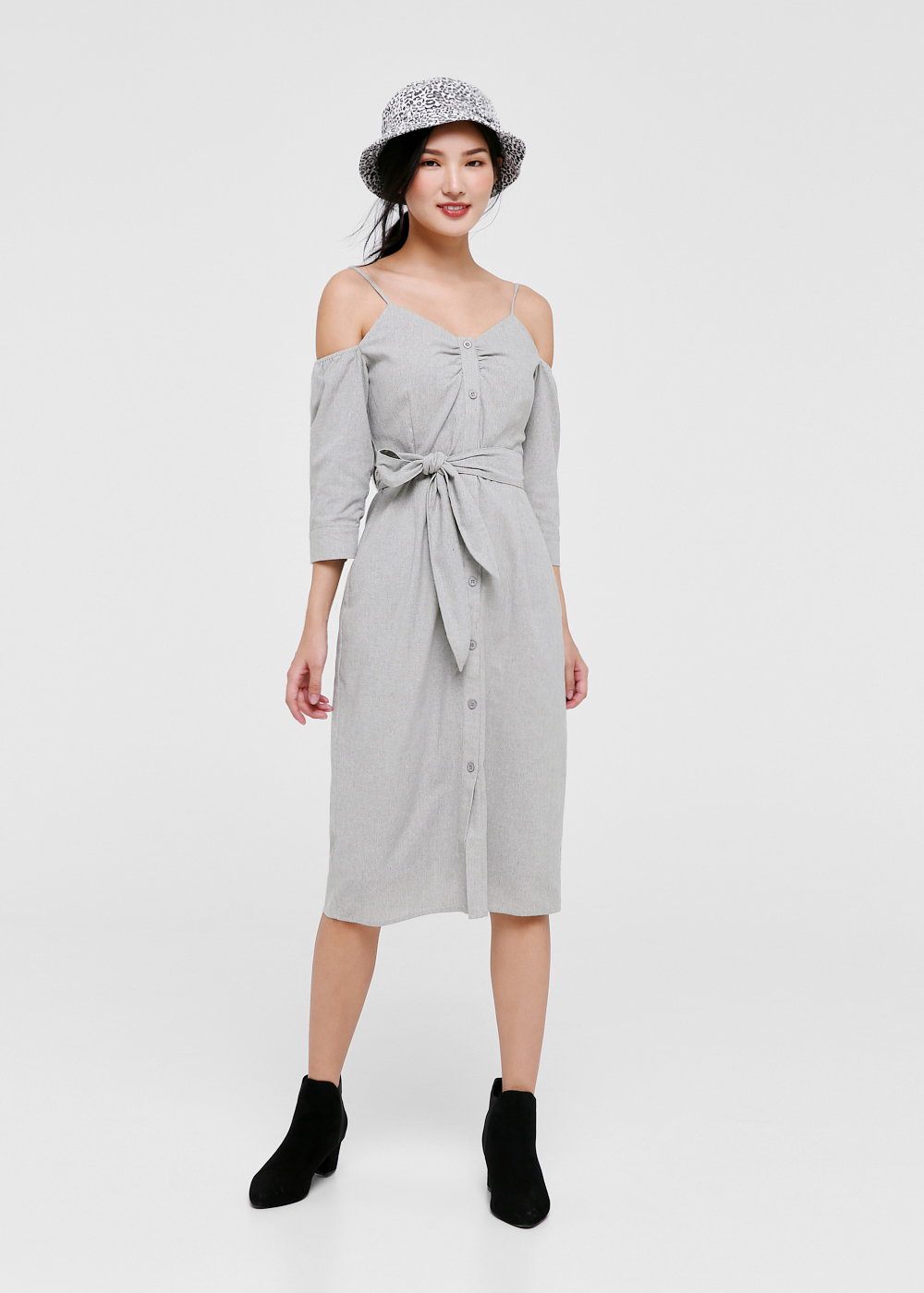Heidi Cold Shoulder Midi Dress