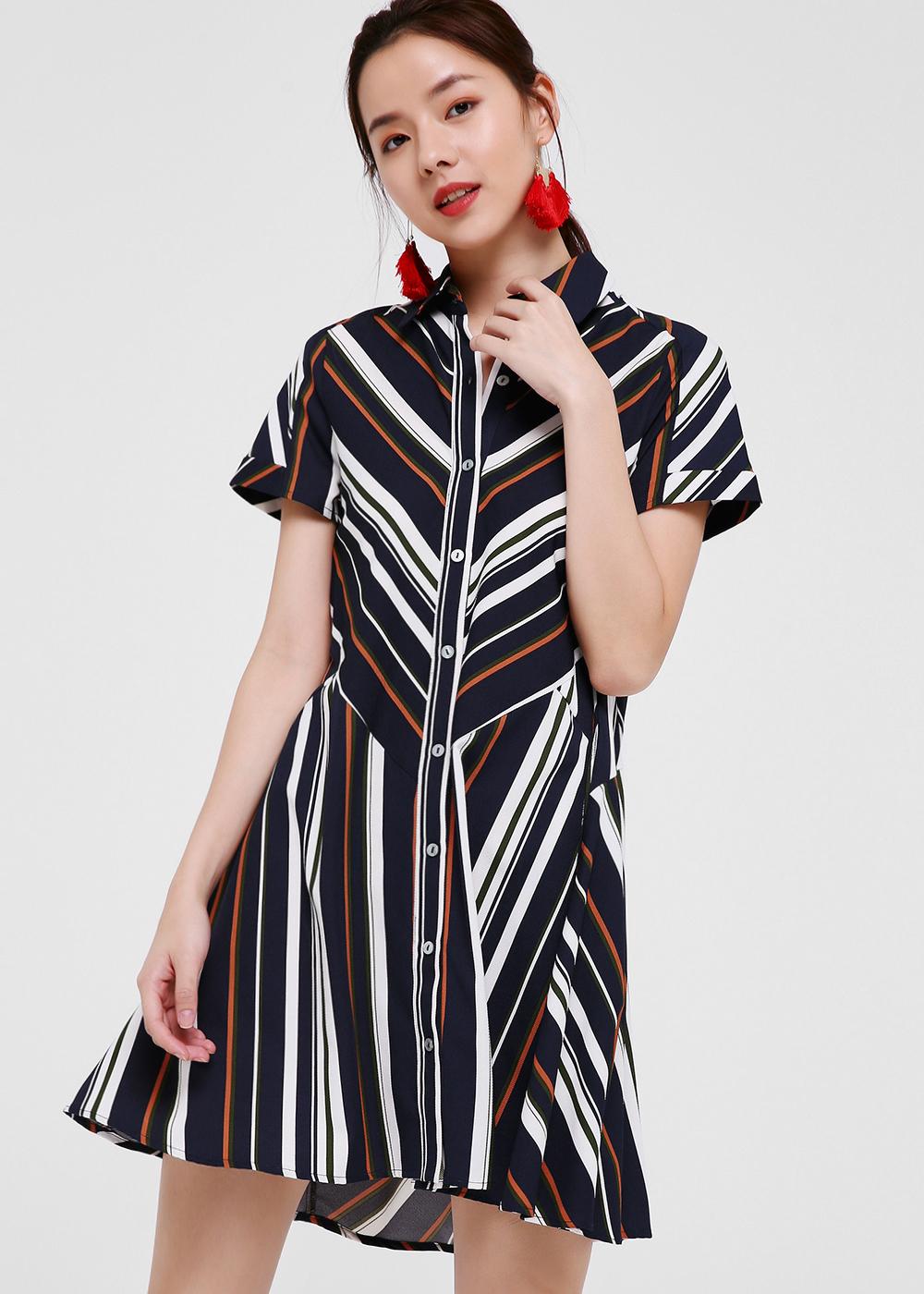Tessa Button Down Shirt Dress
