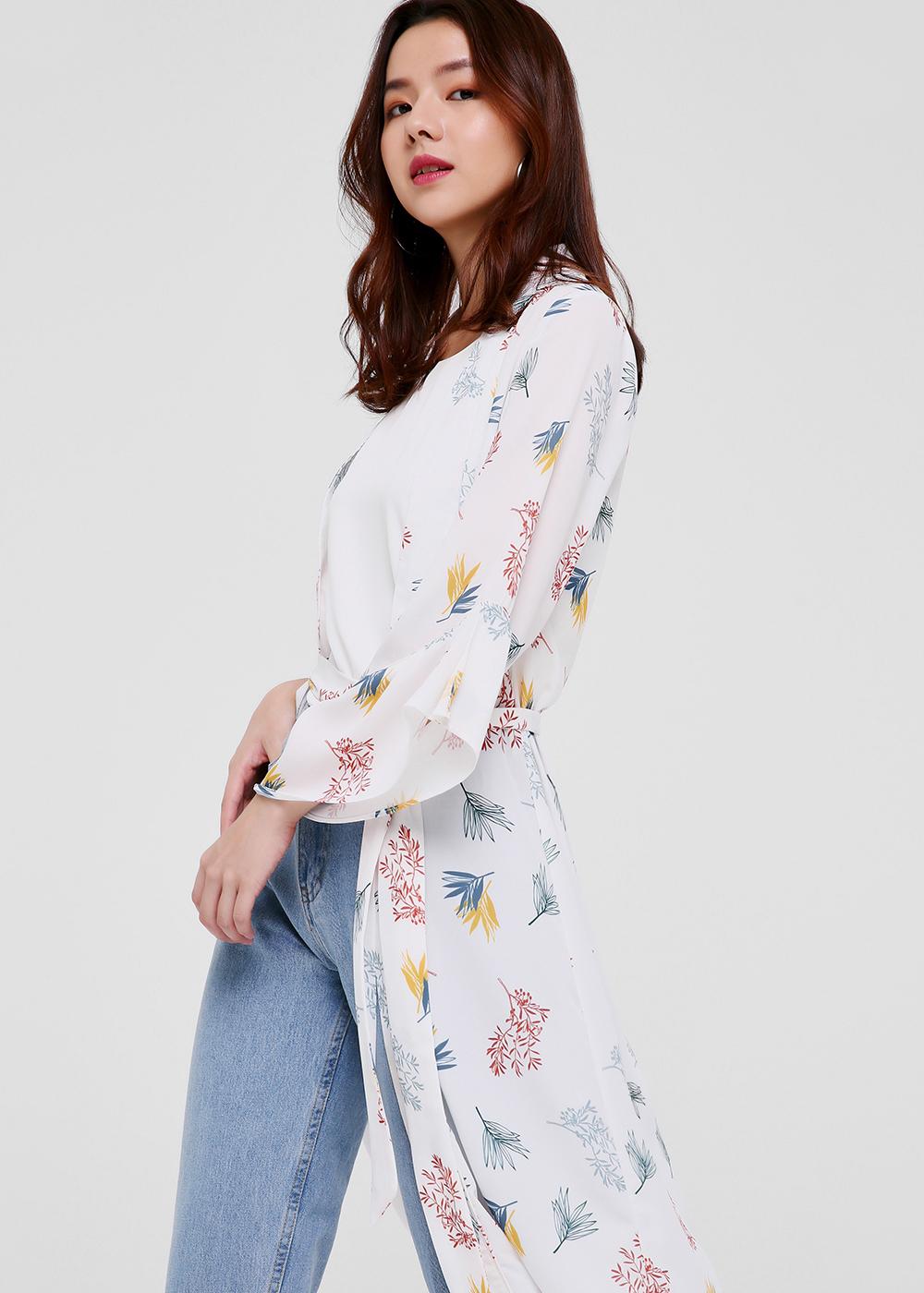 Cherelle Printed Longline Kimono