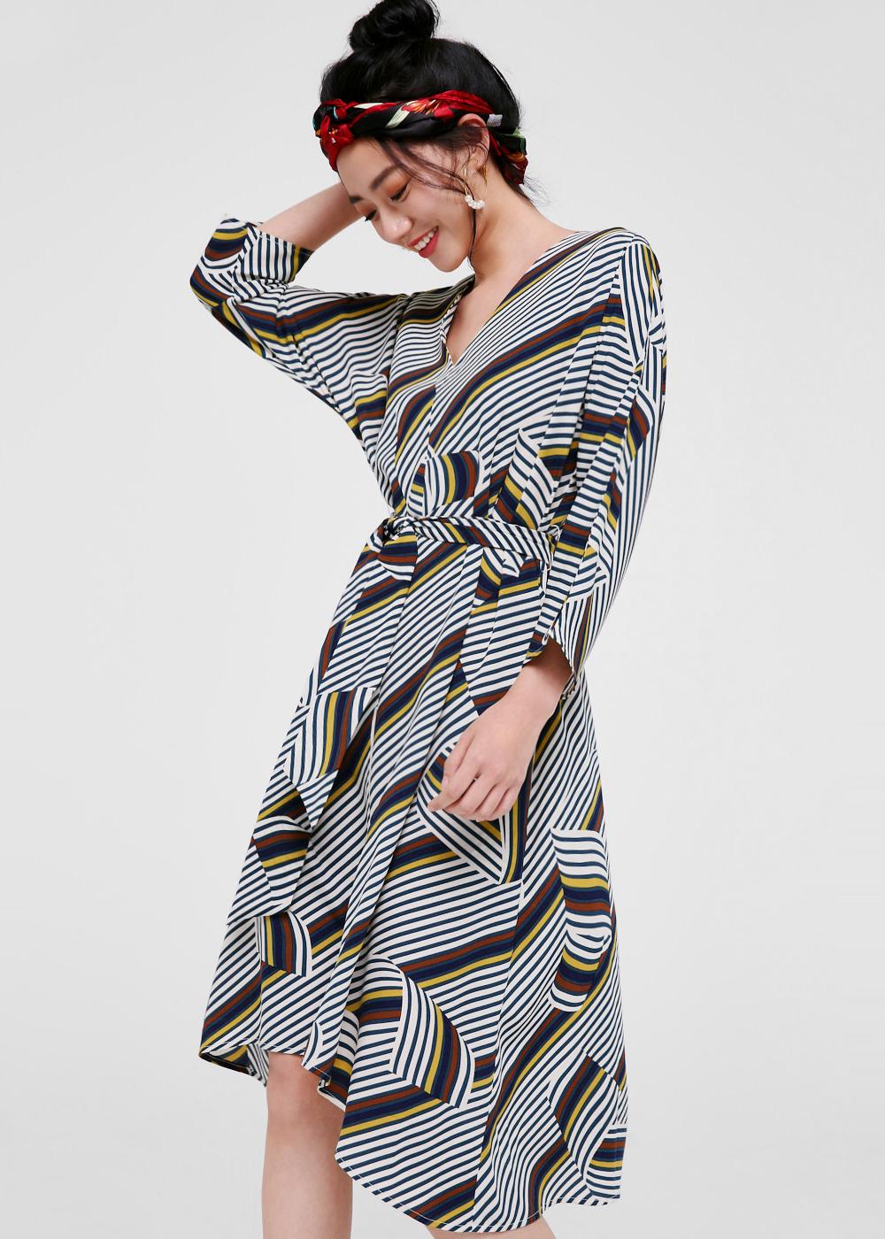 Yolanda Belt Sash Midi Dress