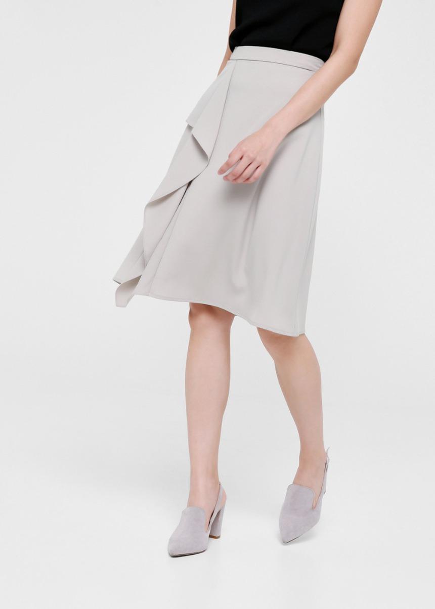 Elana Cascade Midi Skirt
