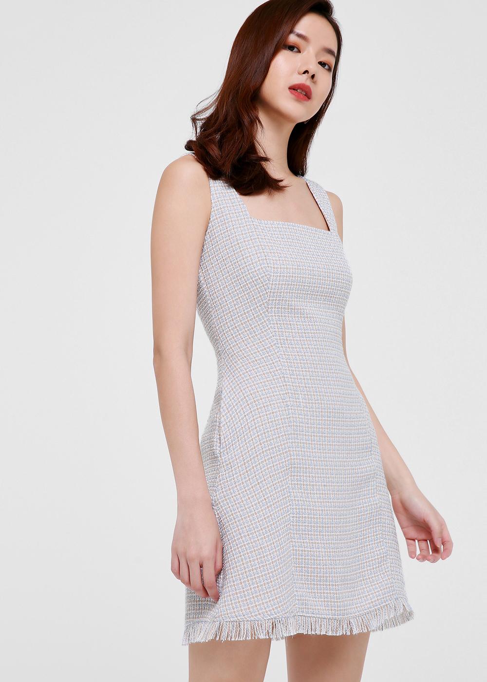 Leia Tweed A-line Mini Dress