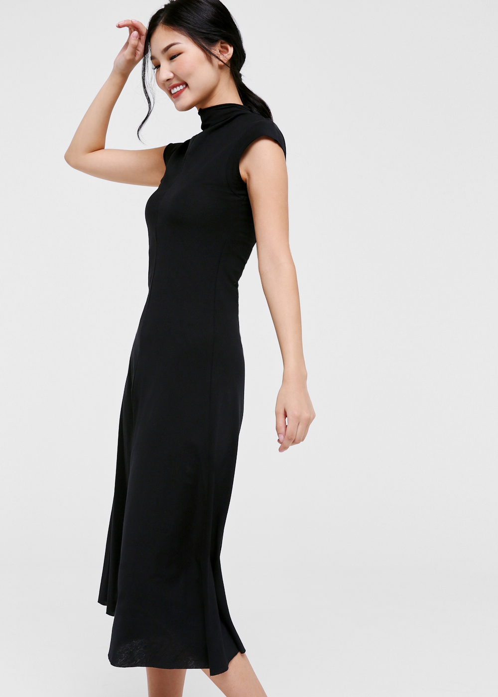 Suzanne Mock Neck Midi Dress