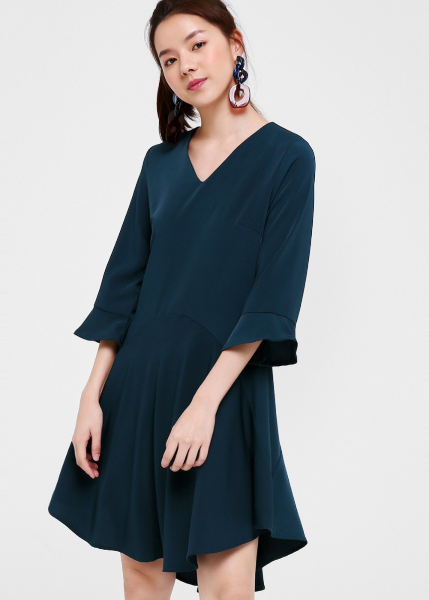 Salome Flare Hem Dress