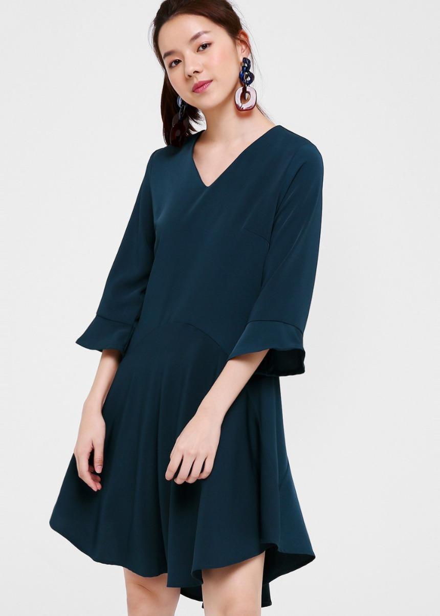 Salome Flare Hem Dress