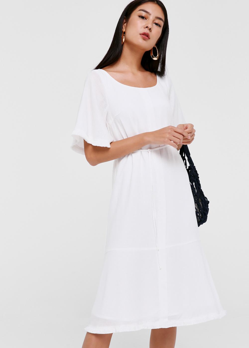 Drea Flare Hem Midi Dress