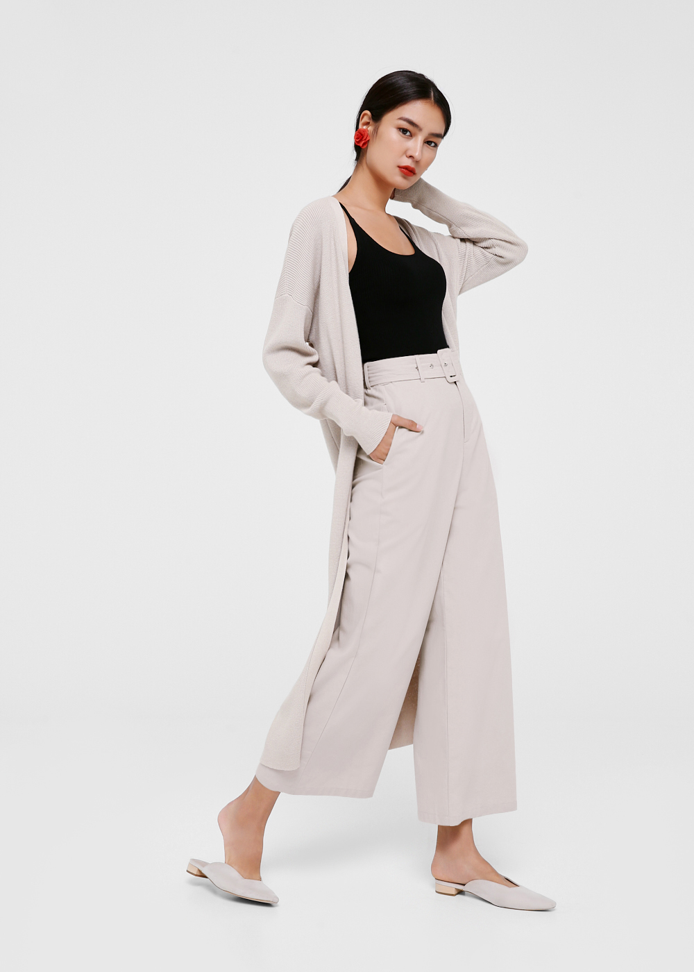 Alvina Belted High Waist Pants