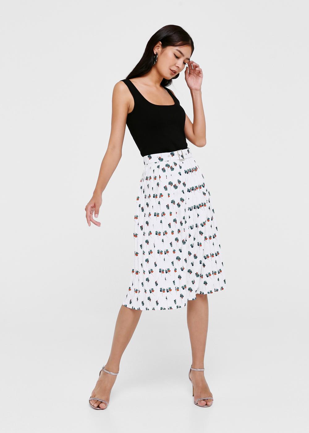 Bernice Printed A-line Skirt