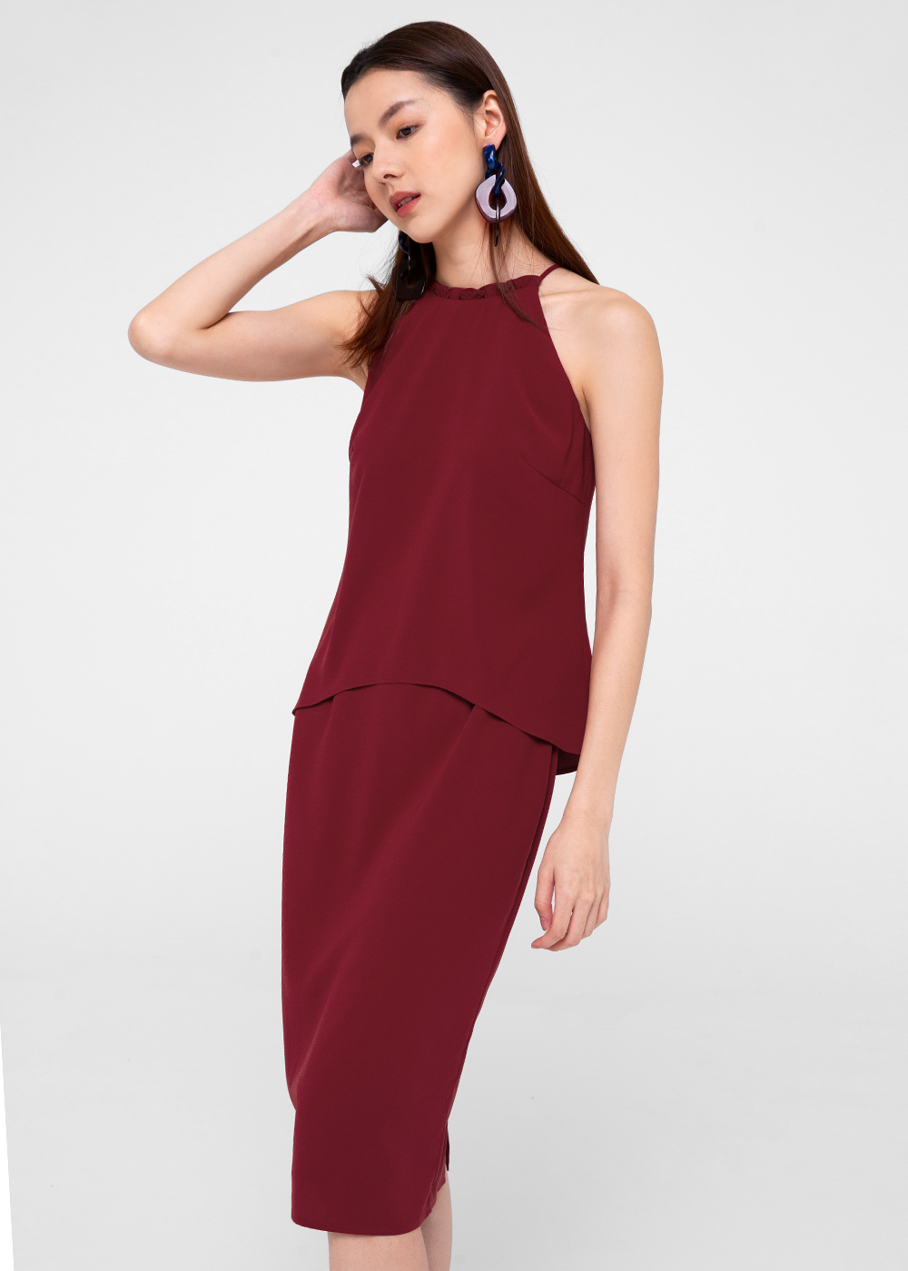 Naveah Layered Pencil Dress