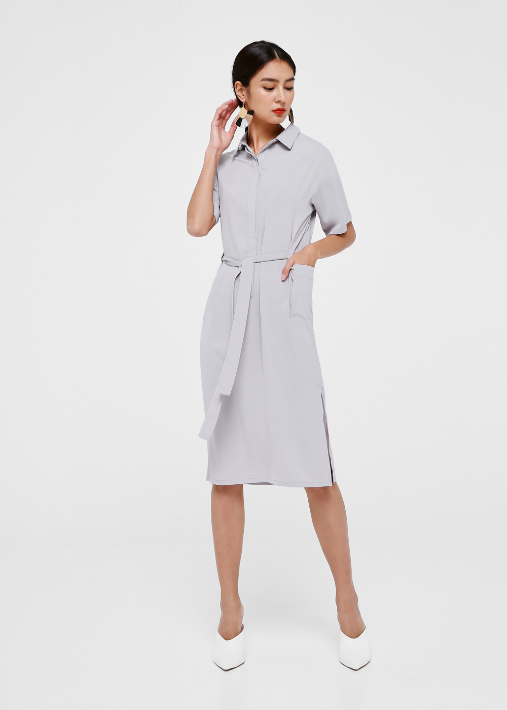 Lindi Tie Front Midi Dress