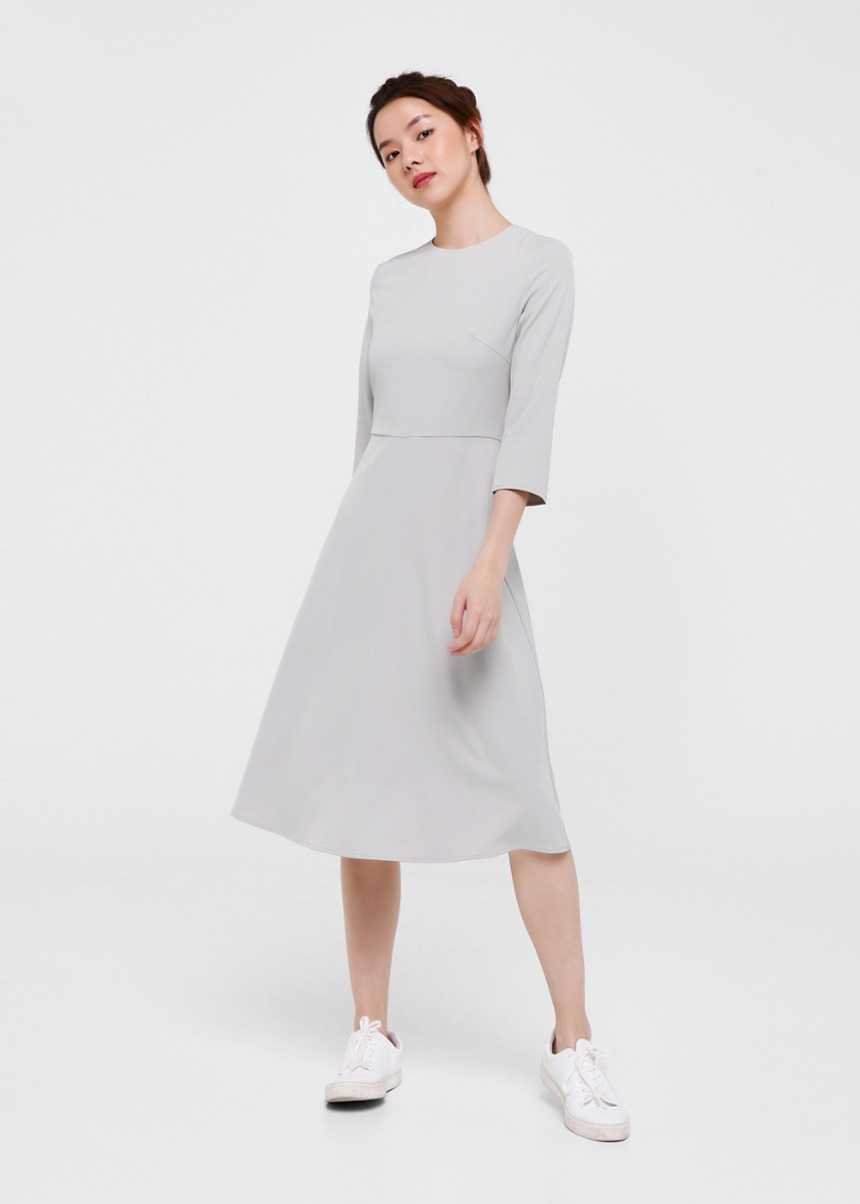 Brynlee Open Back Midi Dress