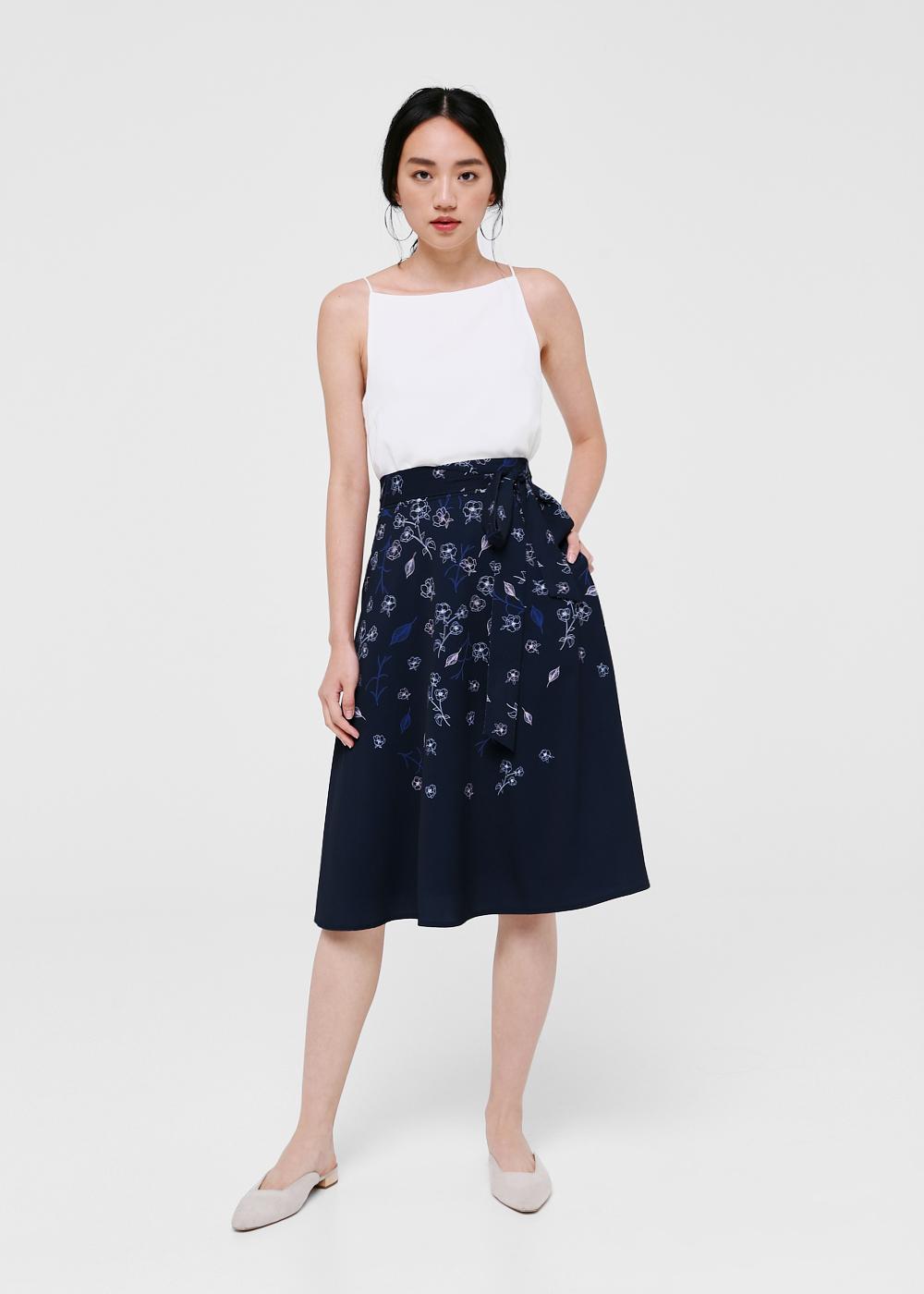 Astrid Printed Midi Skirt