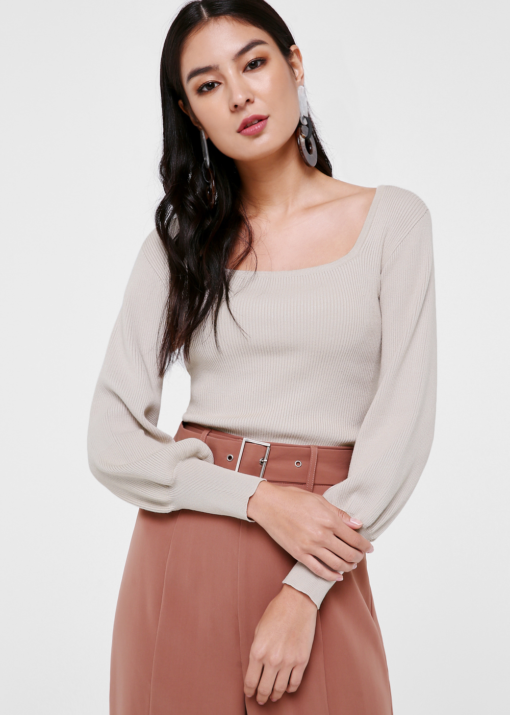 Scarlett Balloon Sleeve Knit Top
