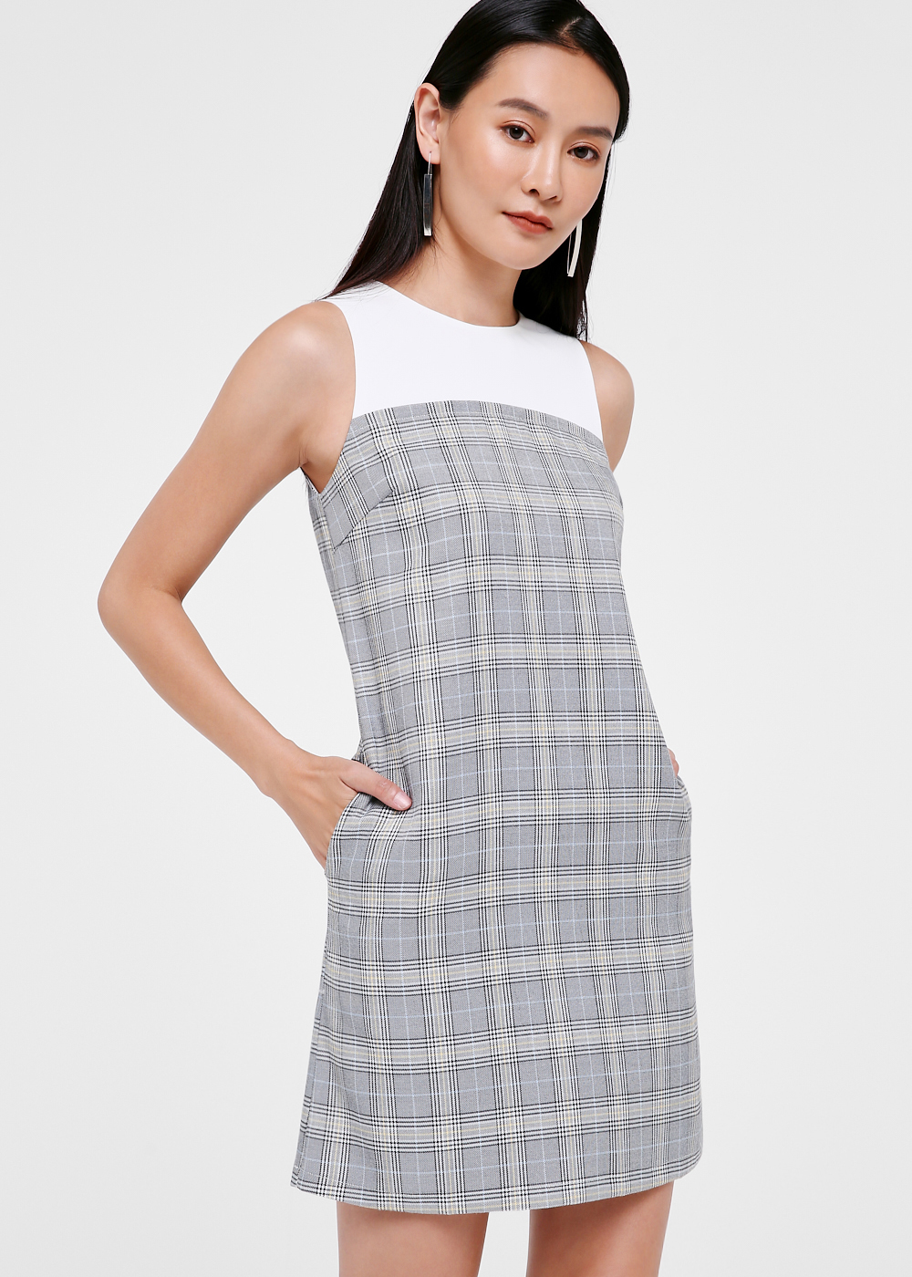 Katalina Plaid Shift Dress