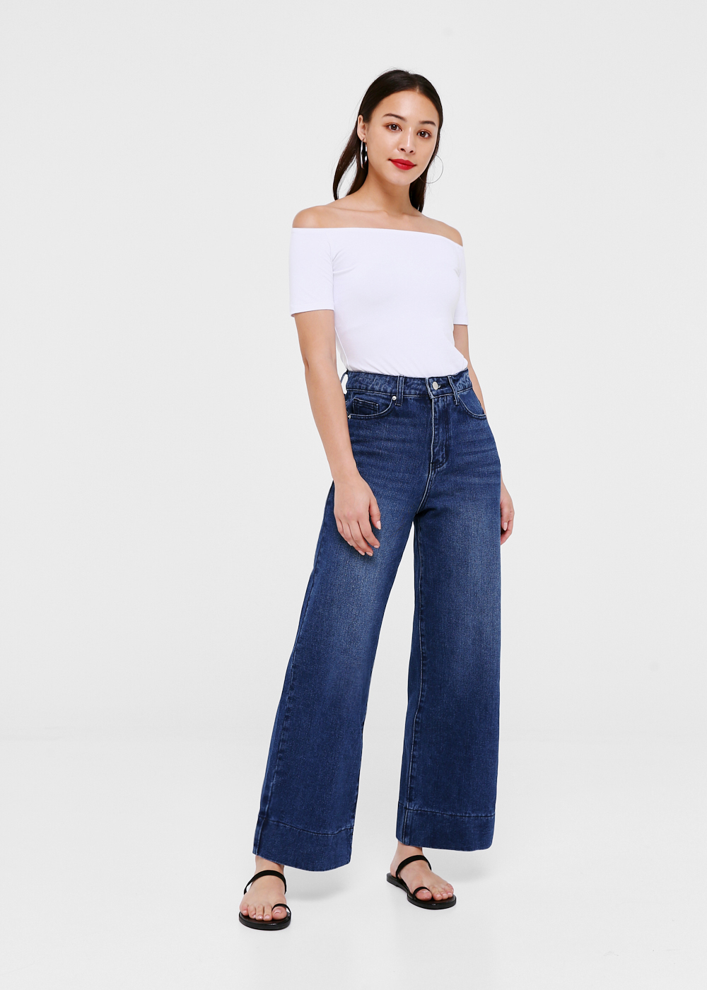 Leighton High-rise Wide Leg Jeans - Medium Wash