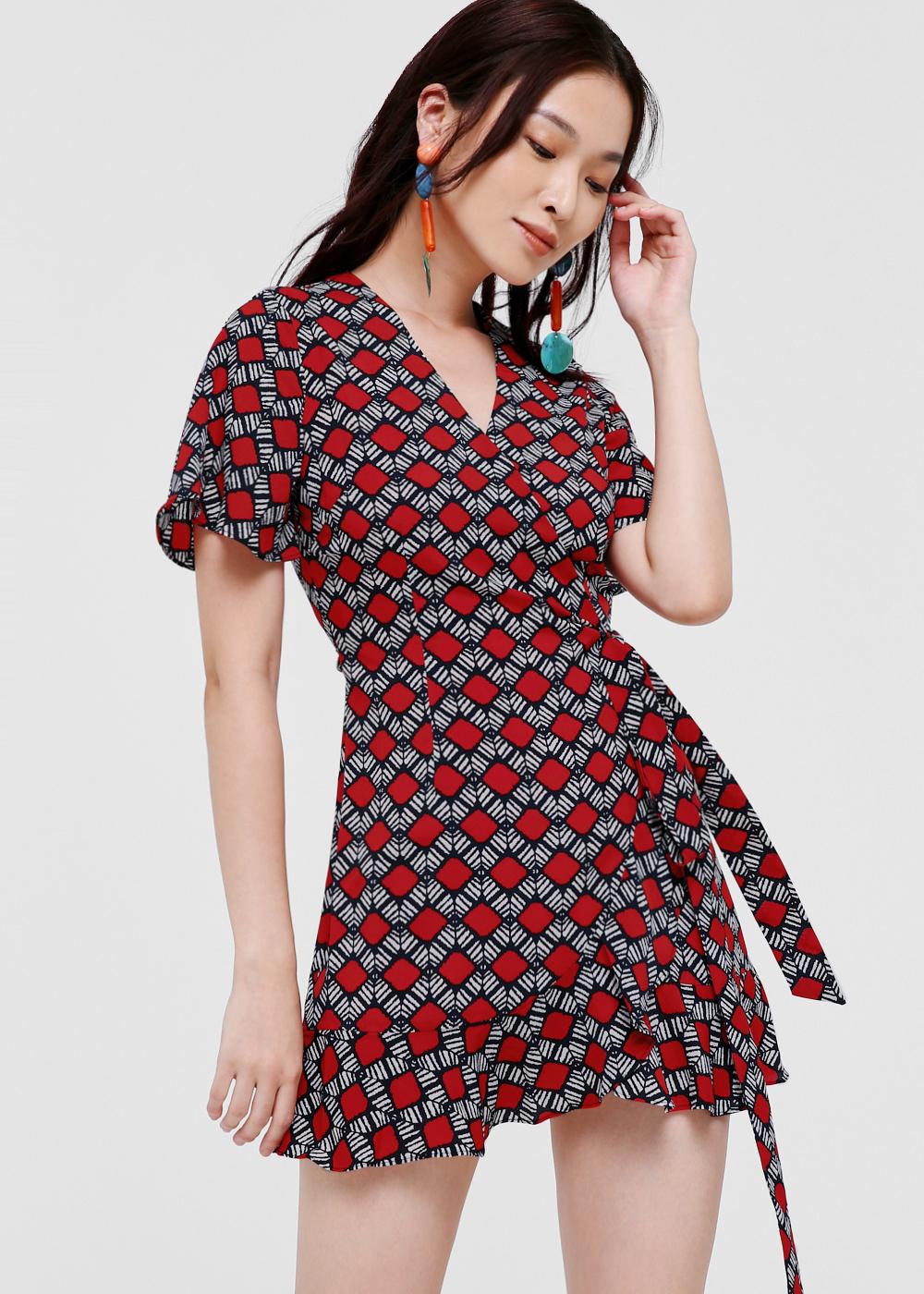 Dakshi Printed Wrap Dress