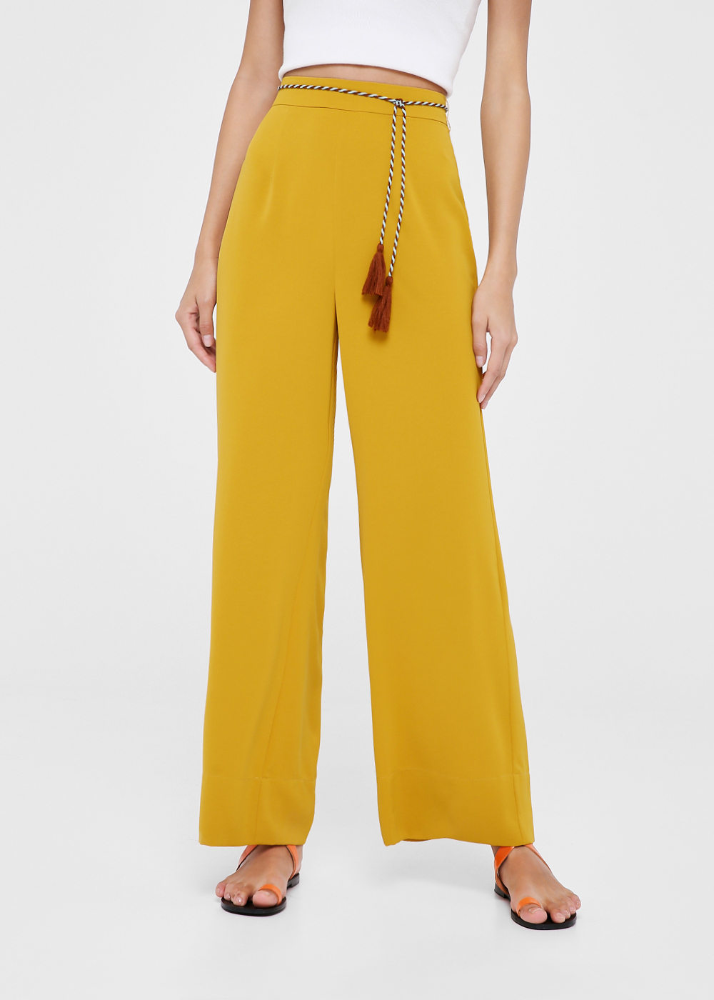 Marley Tassel Tie Straight Leg Pants