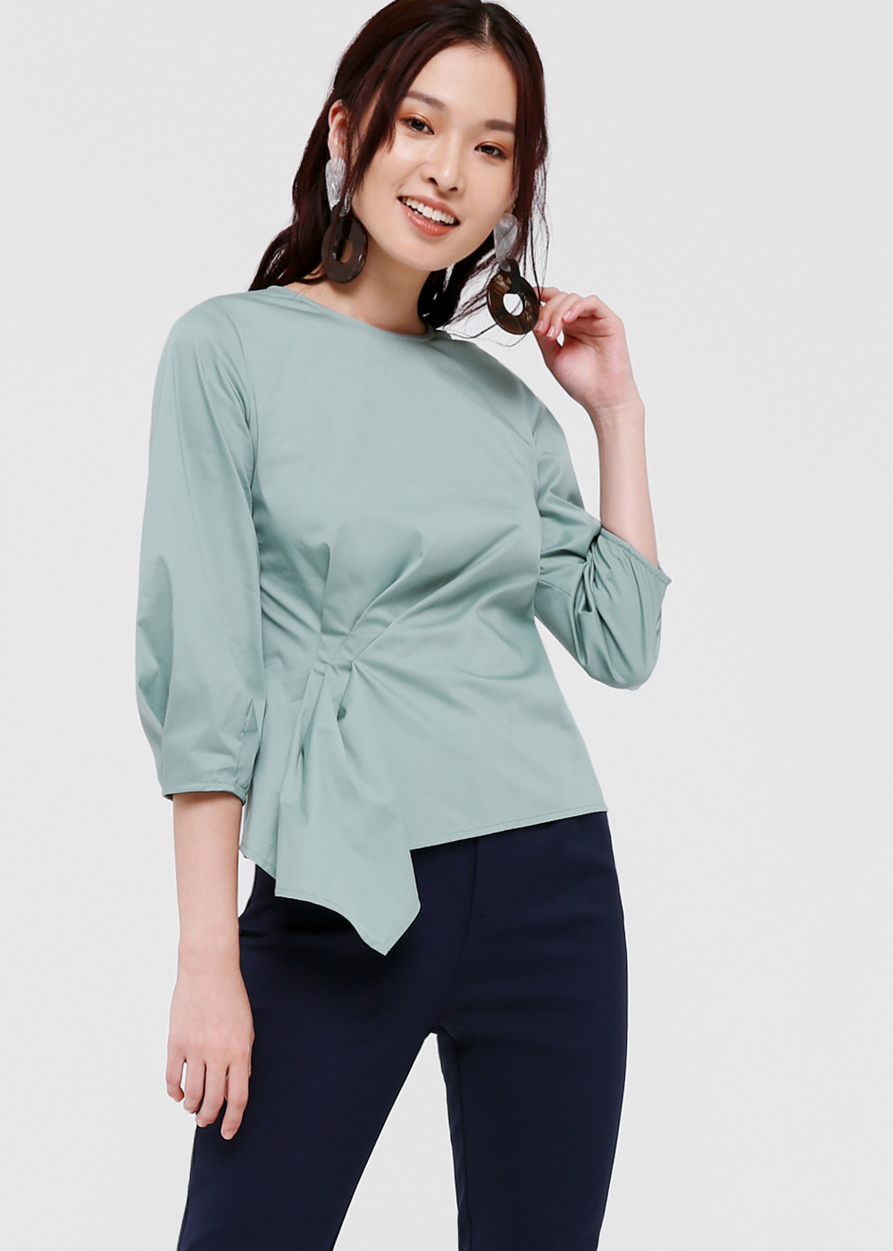 Evelyn Twist Front Blouse