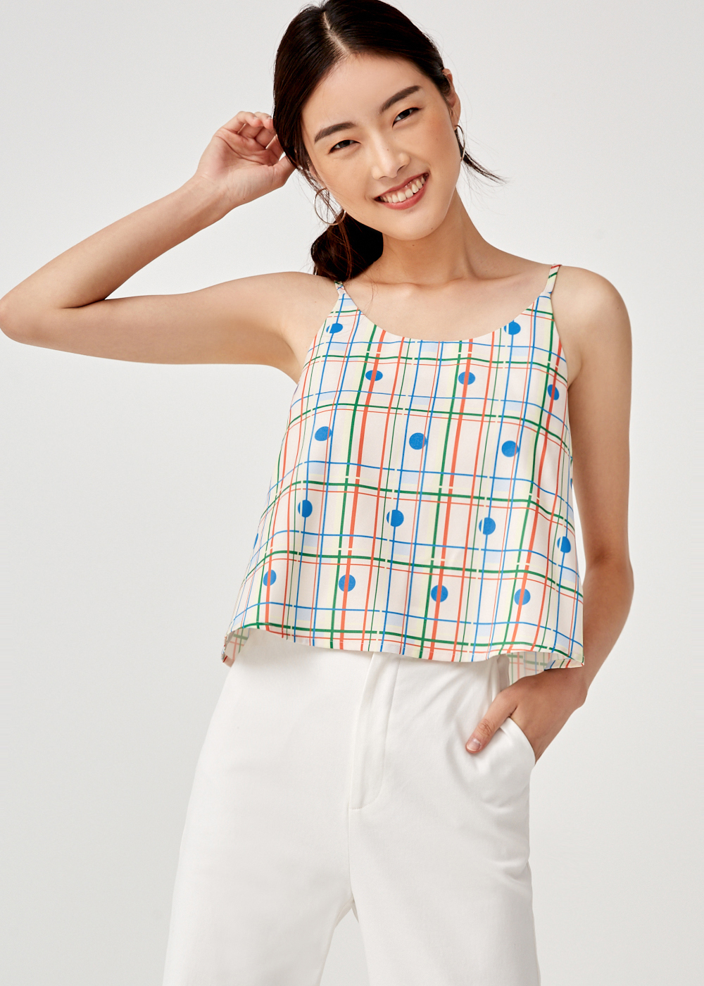Raegan Camisole Top in Rainbow Tile