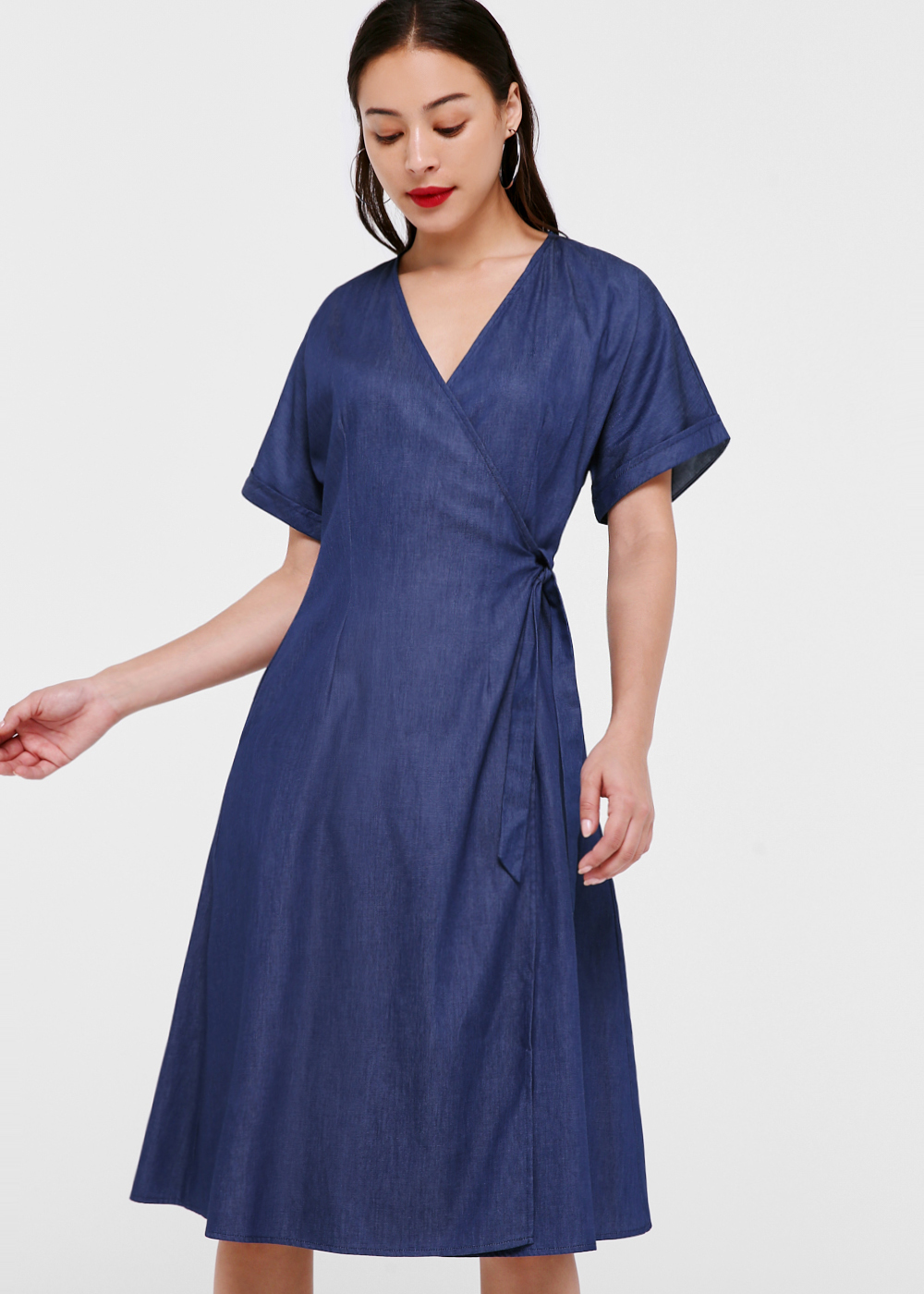 Venice Midi Denim Wrap Dress