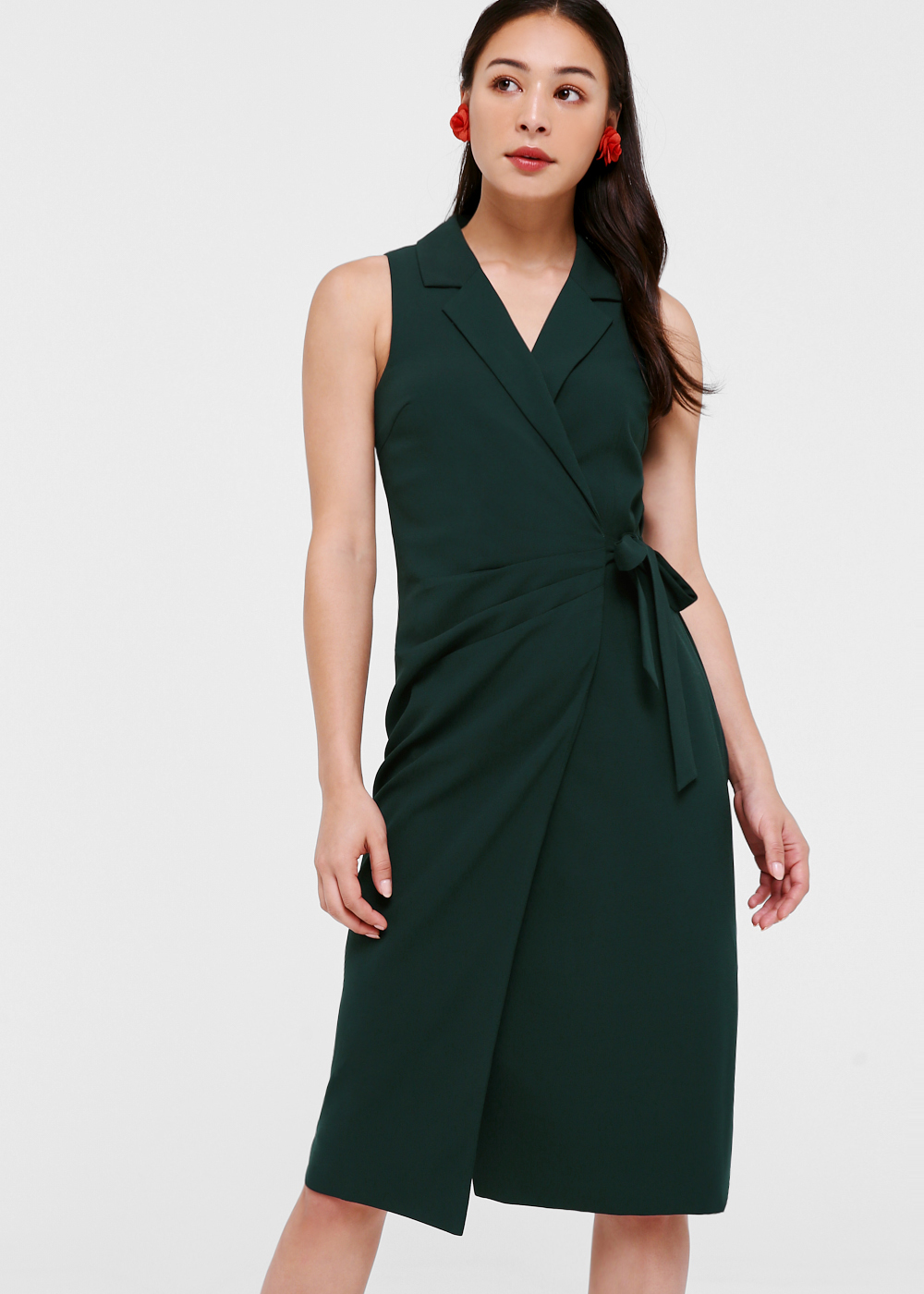 Simone Wrap Pencil Dress