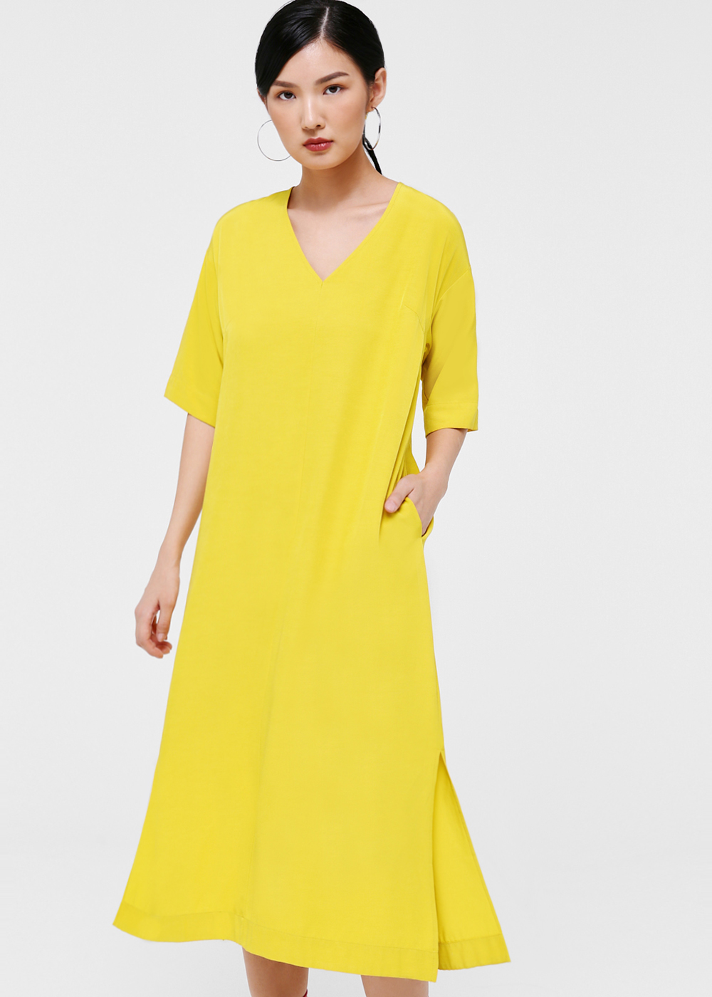 Opel Relaxed Fit Midi Dress