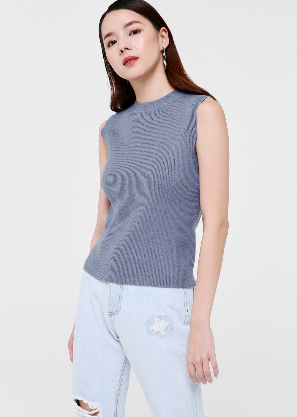 Andie Mock Neck Knit Top