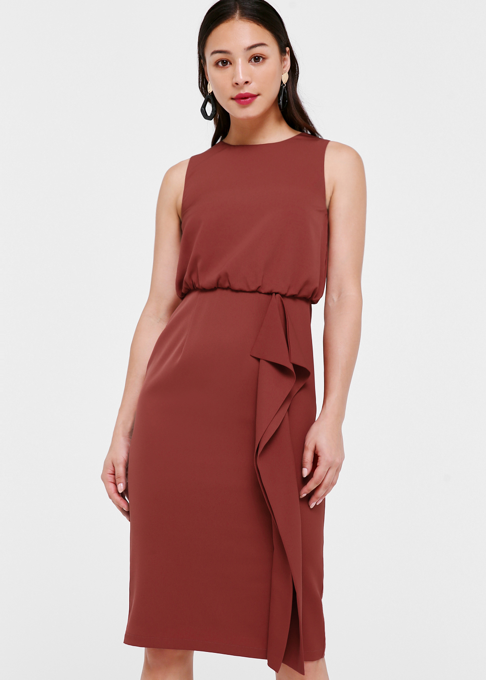Tia Cascade Midi Dress