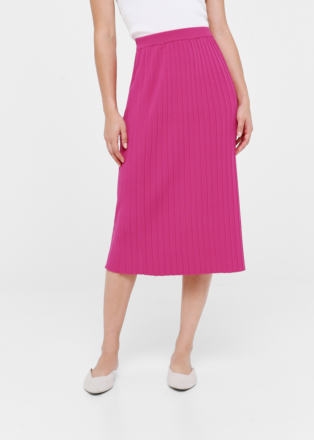 Novella Pleated Knit Skirt