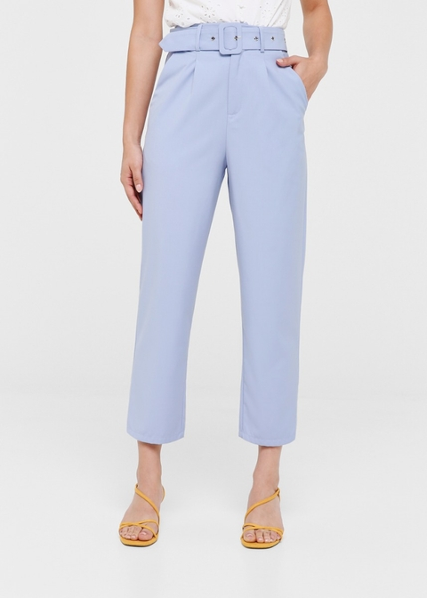 Burnice Belted Cropped Leg Pants
