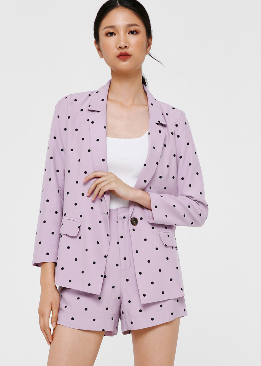 Demelza Polka Dot Tailored Blazer