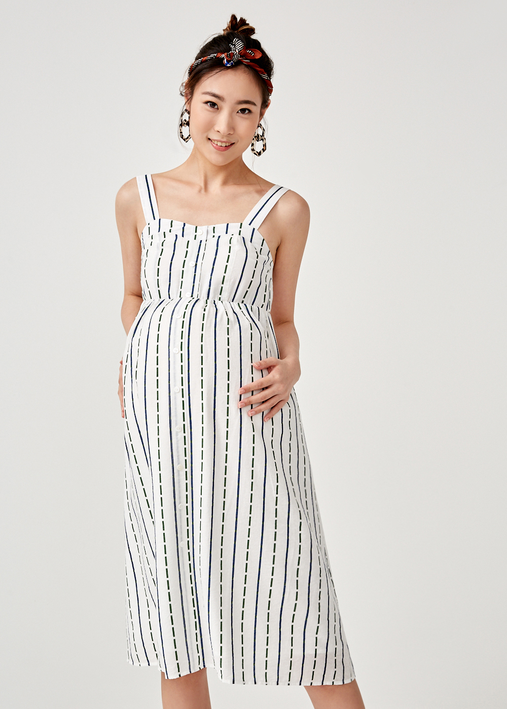 Emery Button Down Midi Dress