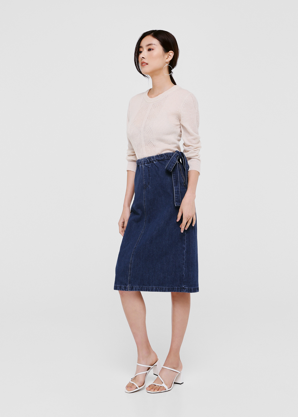 Aria Denim Midi Skirt