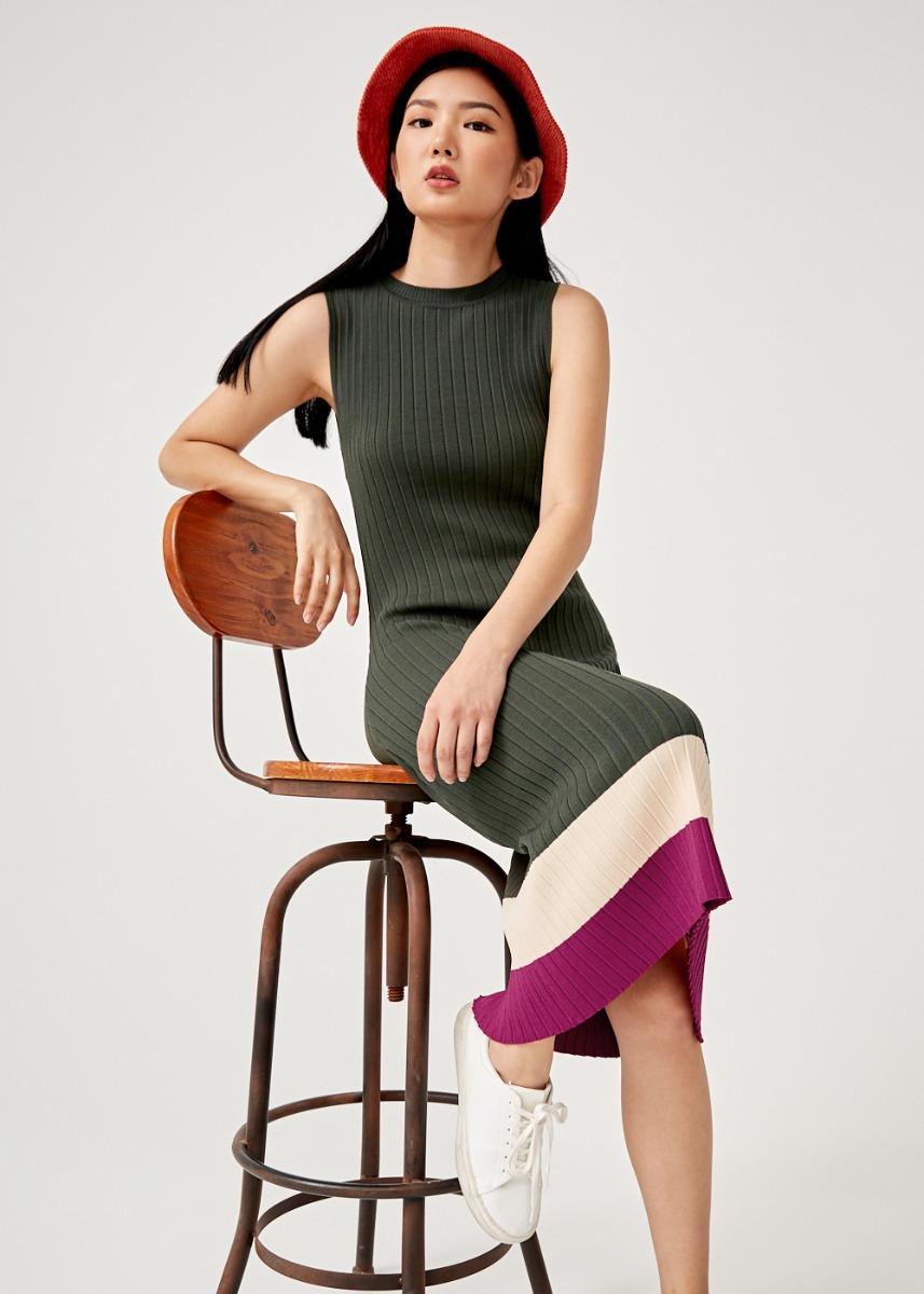 Charlie Ribbed Bodycon Knit Dress