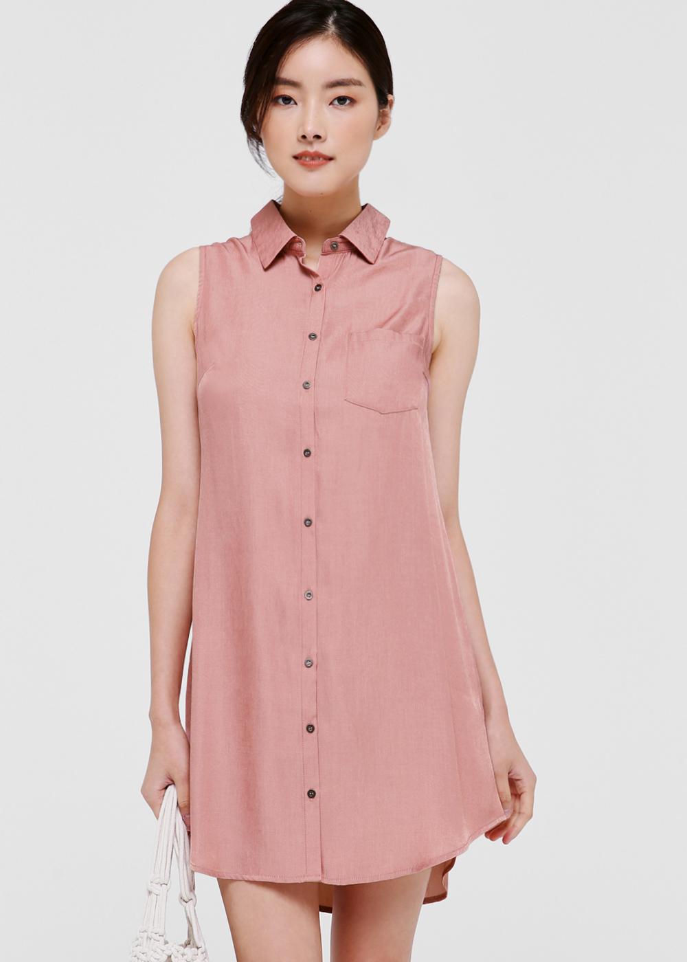 Melania Denim Shirt Dress
