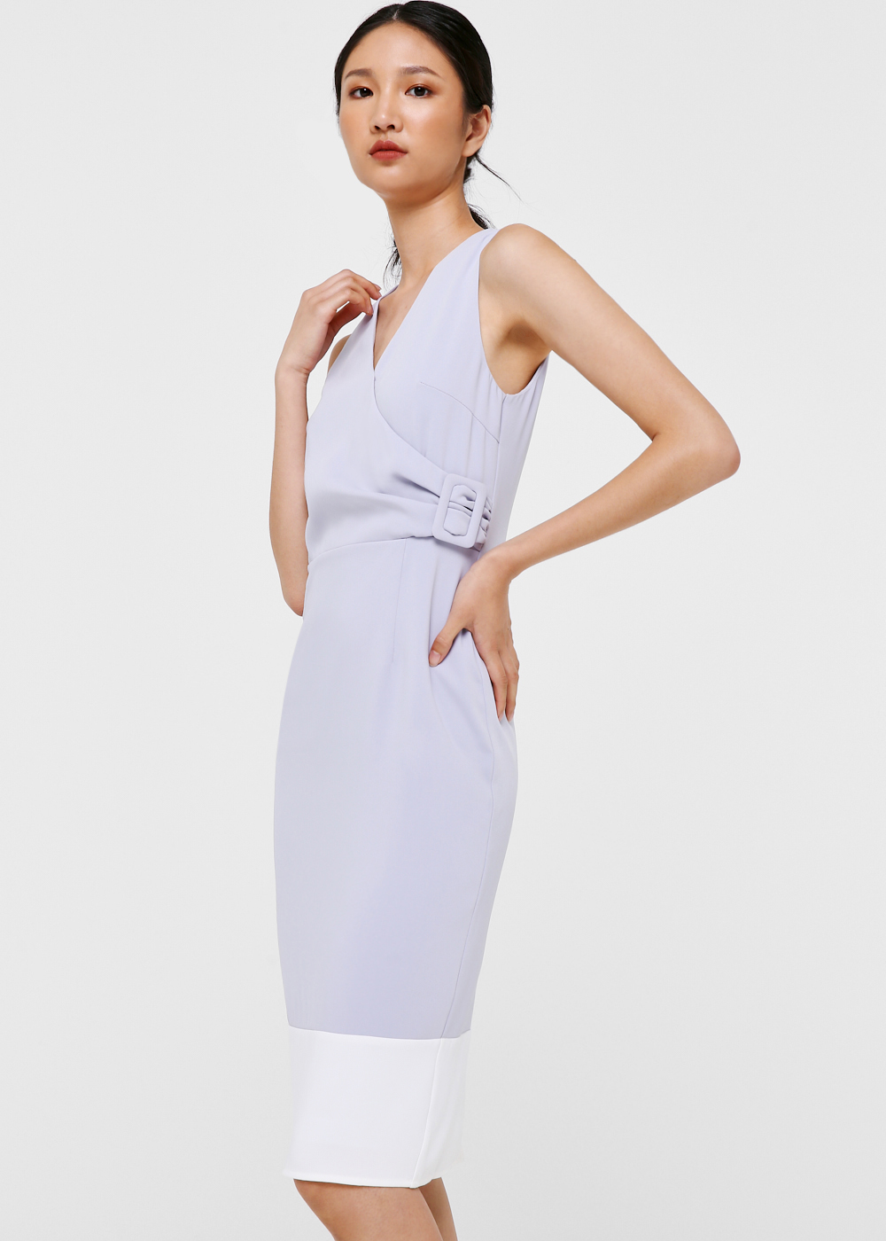 Nalani Crossover Midi Dress