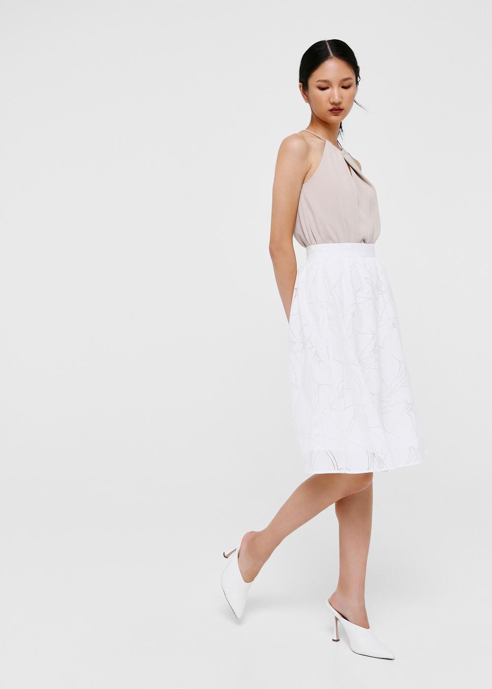 Penny Flare Midi Skirt