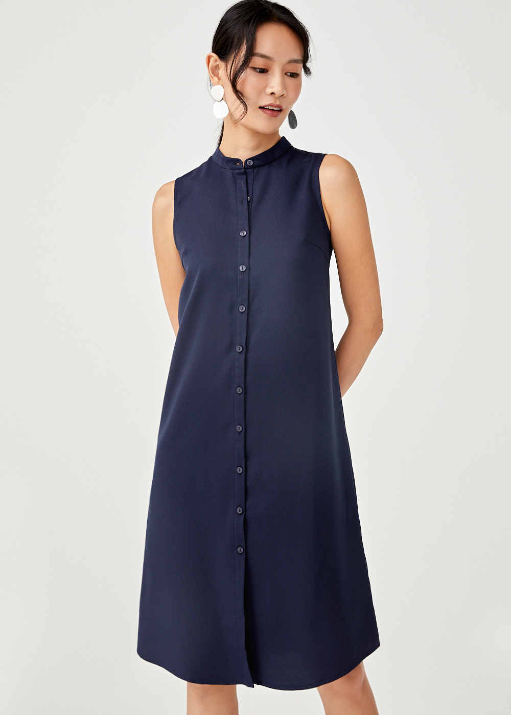 Kairi Button-down Shirt Dress