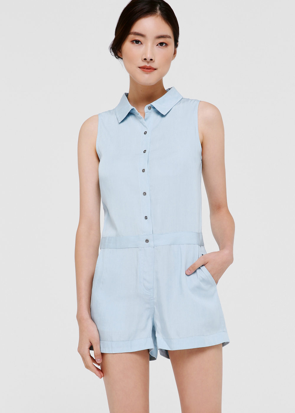 Francesca Denim Romper