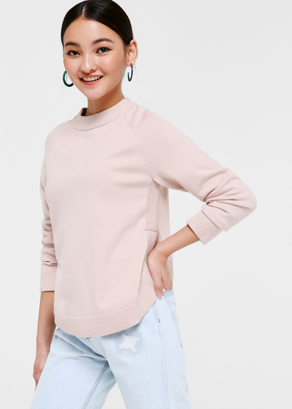 Megan High Neck Knit Sweater