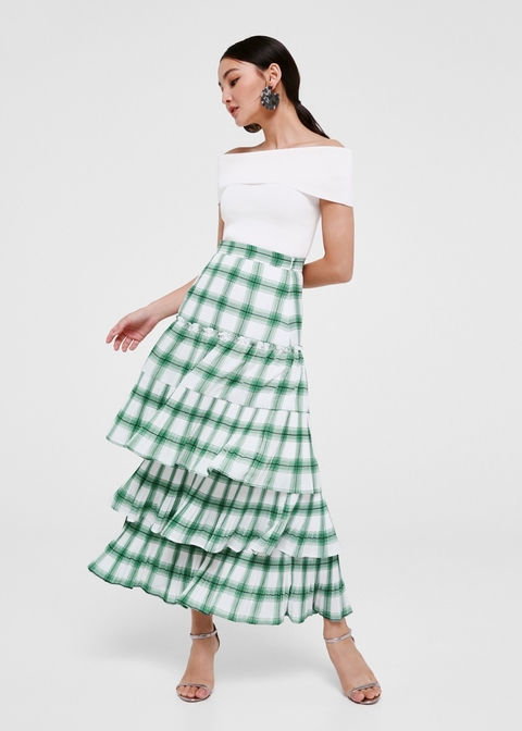 Aubrielle Tiered Maxi Skirt