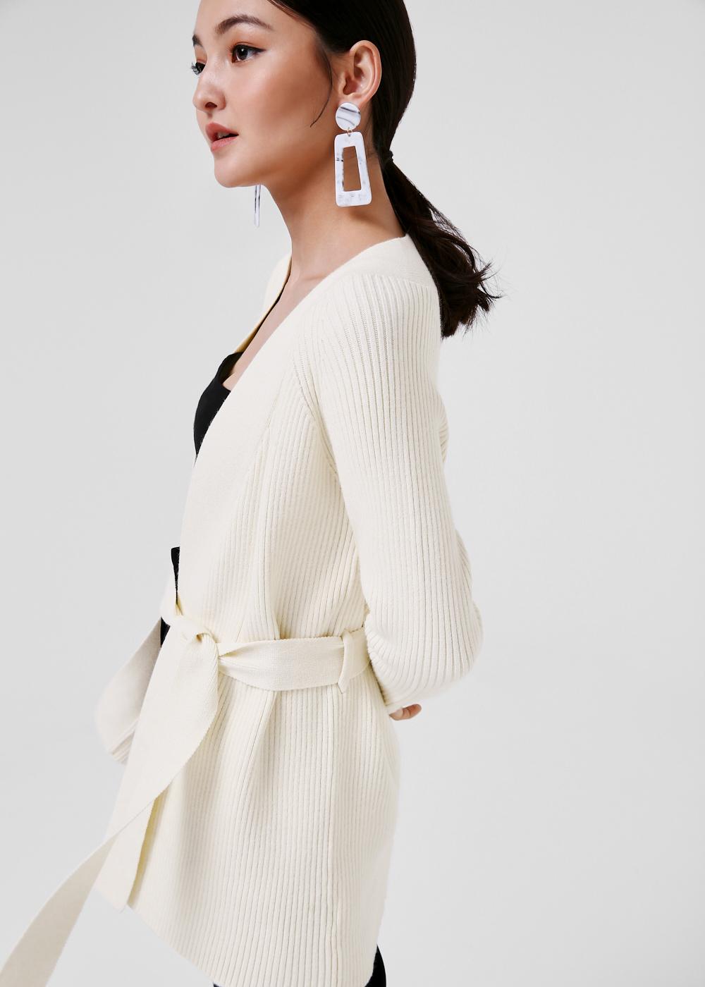 Joelle Knit Sash Tie Cardigan
