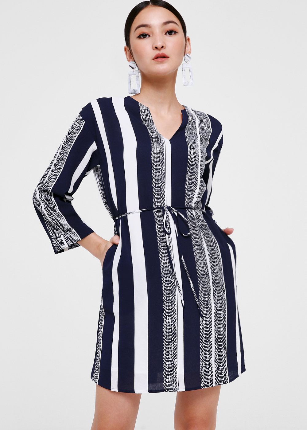 Elissa Printed Notch Neck Dress