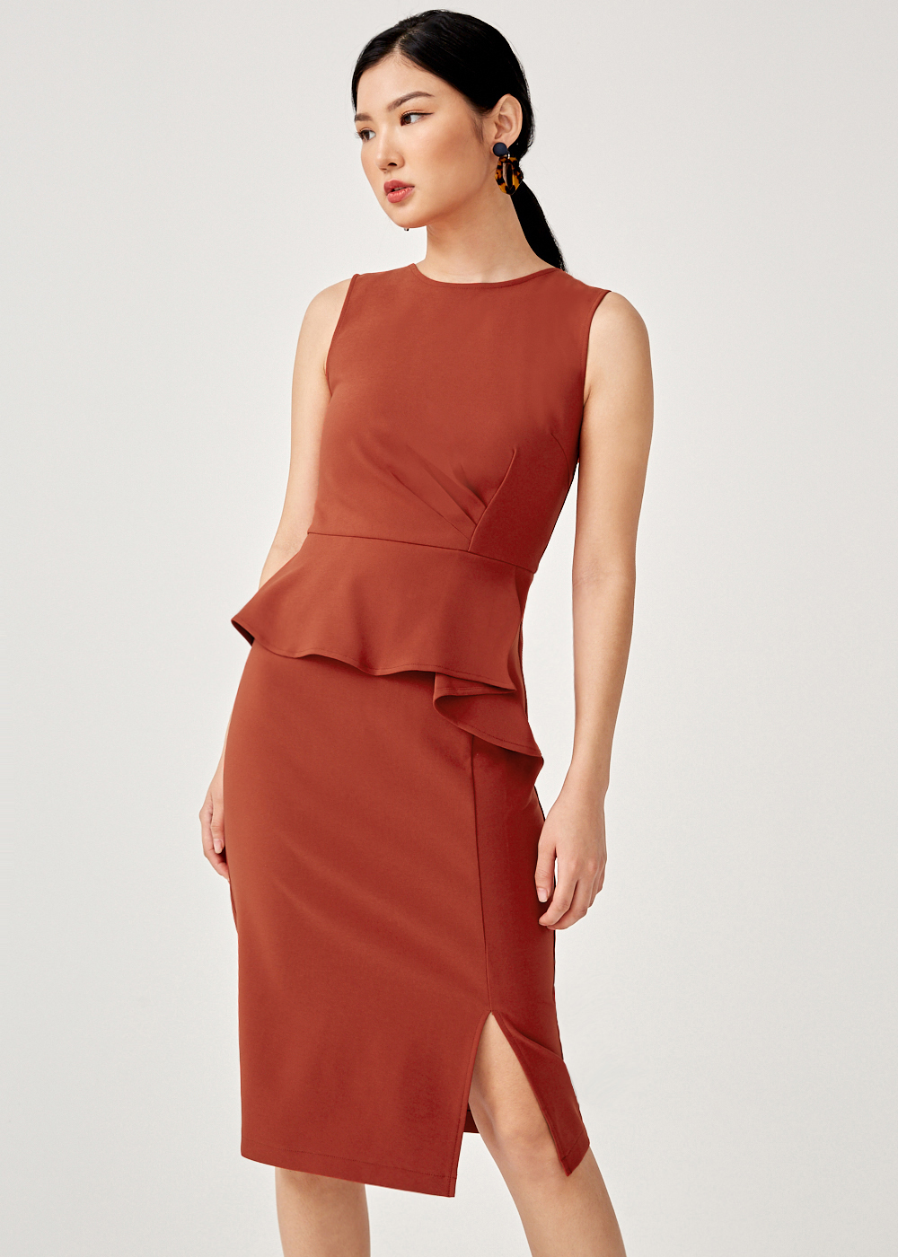 Robin Peplum Midi Dress