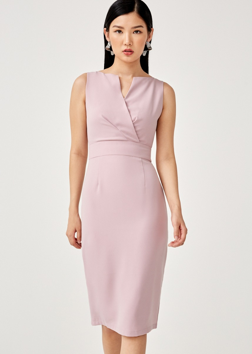 Dominica Foldover Pencil Dress