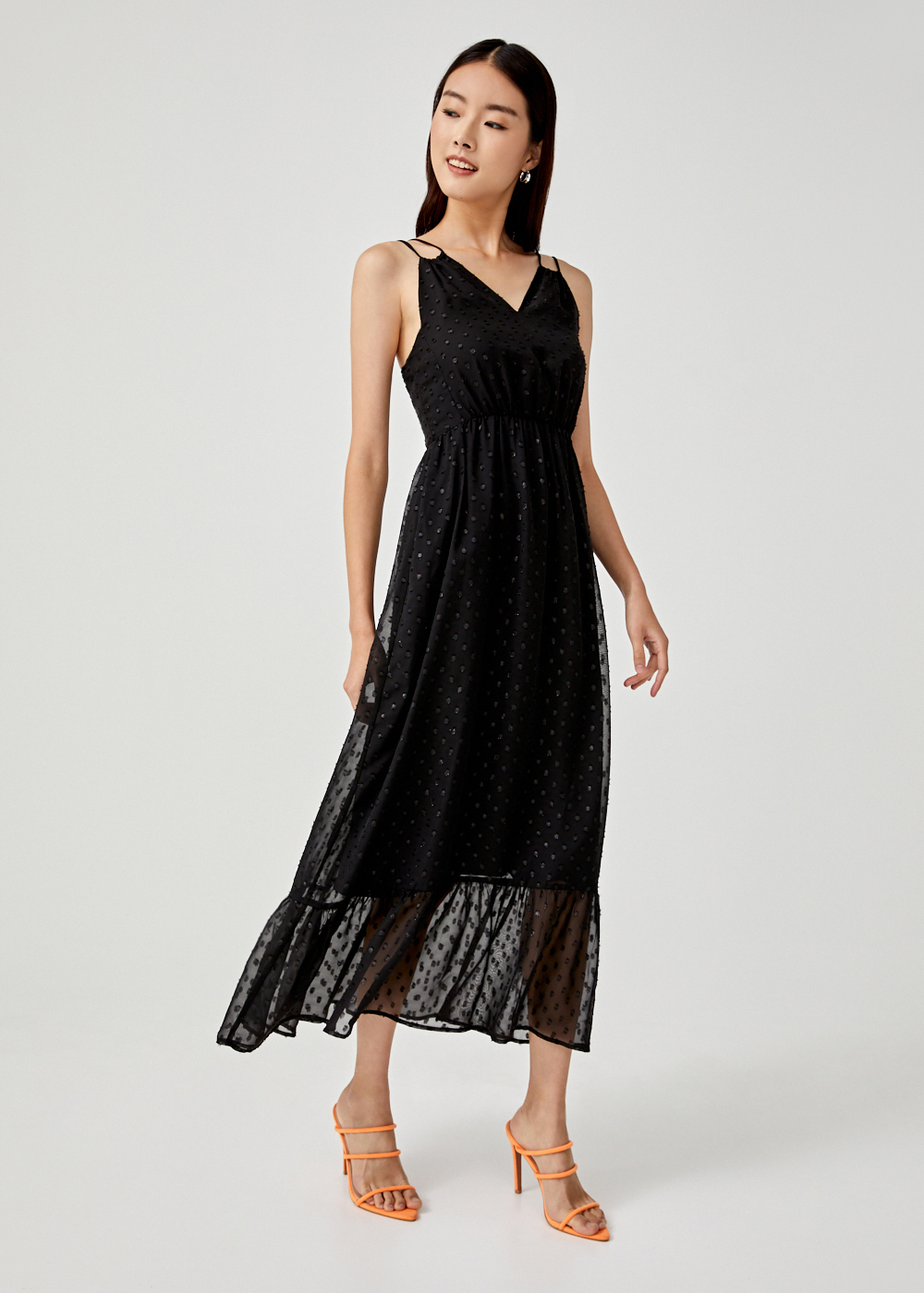 Makena Ruffle Hem Maxi Dress
