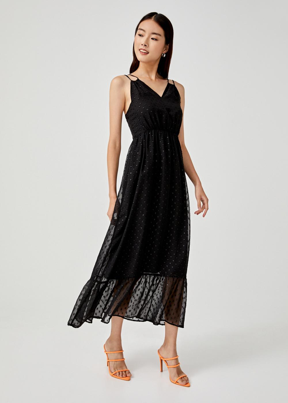 Makena Ruffle Hem Maxi Dress