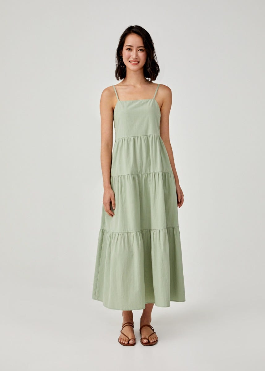 Arrietta Ruffle Hem Maxi Dress
