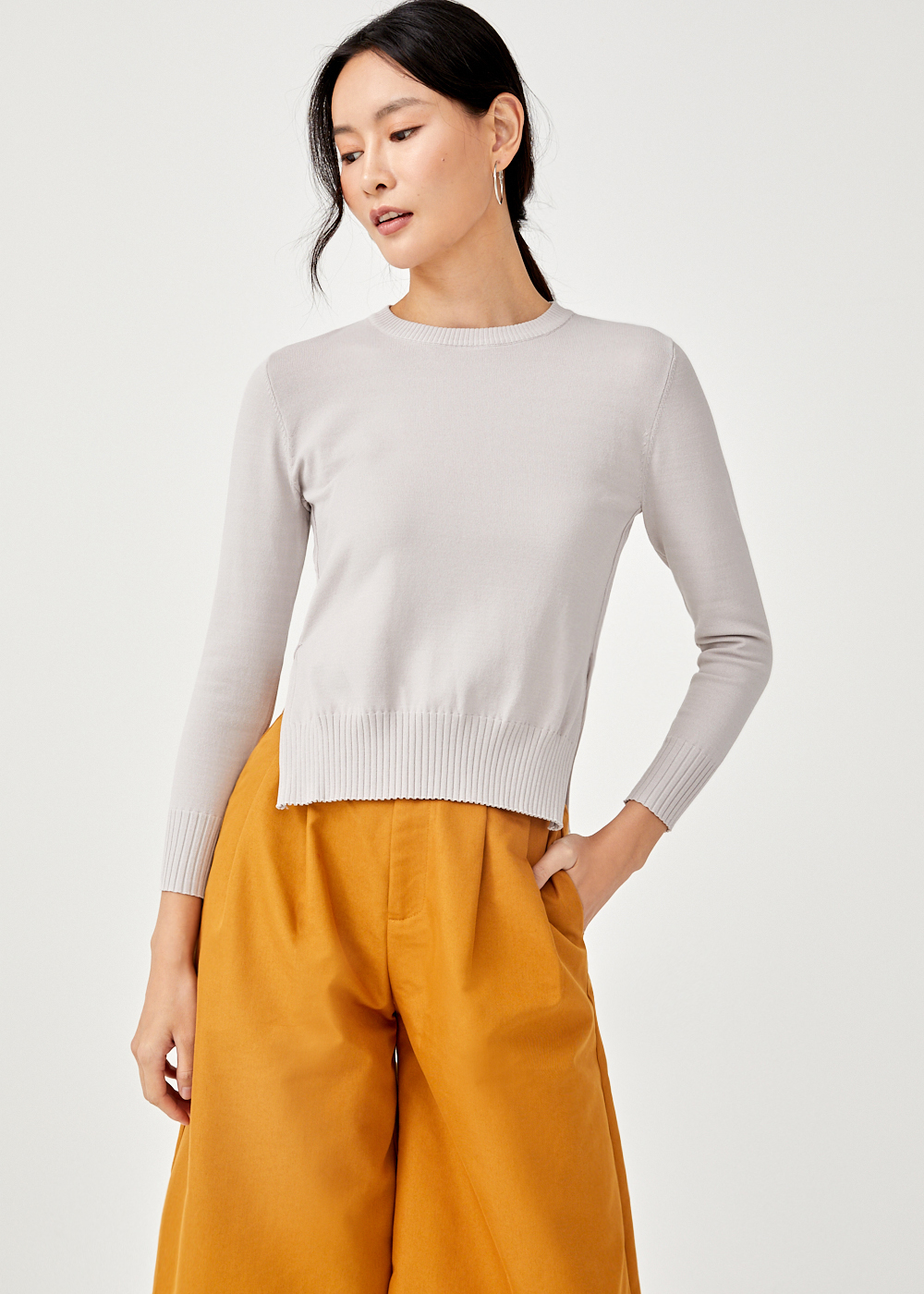 Xael Slit Hem Knit Sweater